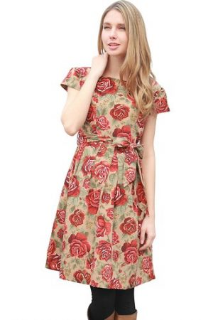 Sweet Mommy Floral Nursing Dress