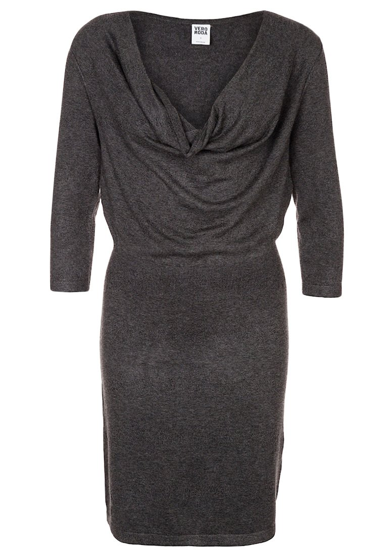 Vero Moda GLORY ELLA Jumper dress dark grey melange