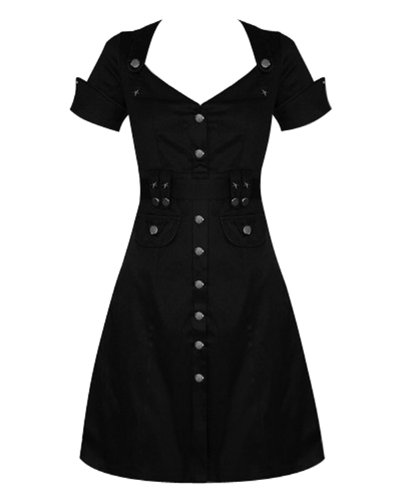 Vintage Inspired 1940s Military Style Rockabilly Dress