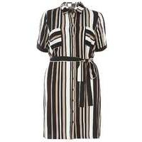 Womens **DP Curve Neutral Stripe Shirt Dress- Black - Dorothy Perkins Nursing Clothes