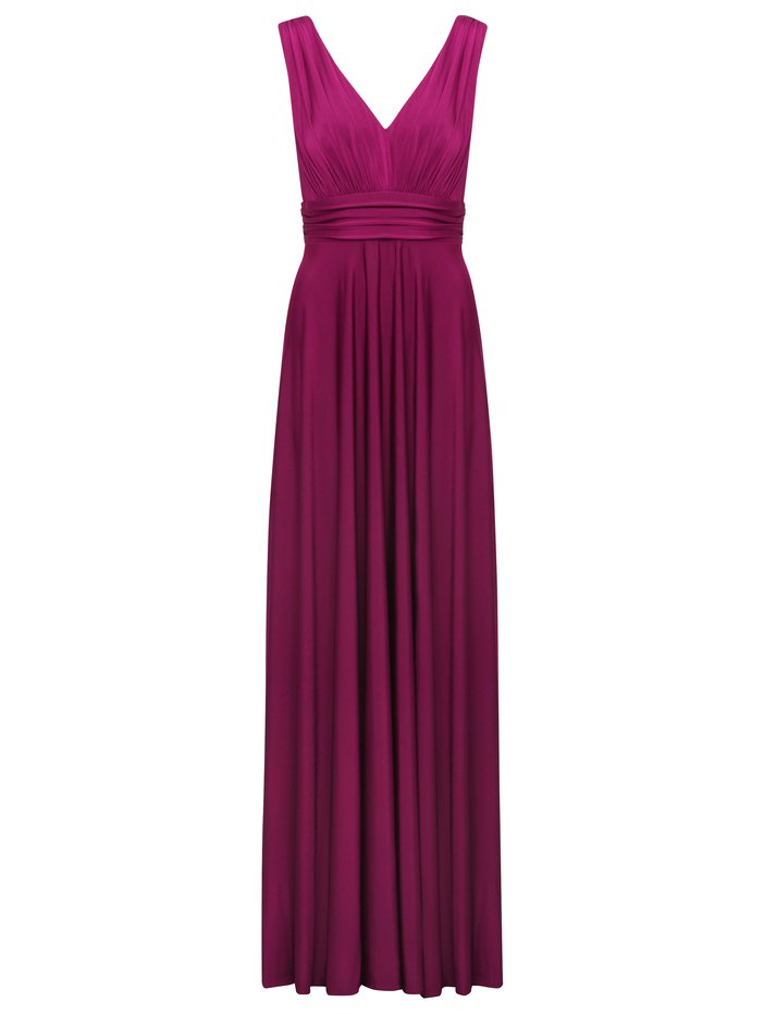 Women's Ladies Boutique Sleeveless Grecian V Neck Formal Evening Maxi Dress
