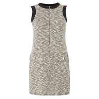 Womens **Petite Salt And Pepper Tunic Dress- Grey - Dorothy Perkins Nursing Clothes