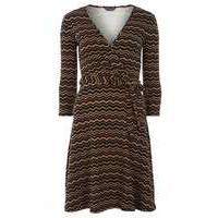 Womens **Tall black and tan wrap dress- Black - Dorothy Perkins Nursing Clothes