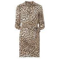Womens animal zip front shirt dress- Brown - Dorothy Perkins Nursing Clothes