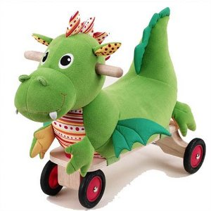 Wonderworld Wooden Puffy Dragon Sit And Ride
