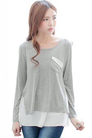 Amazon Grey Nursing Top