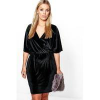 Erin Velvet Wrap Over Dress - black - boohoo.com Nursing Clothes