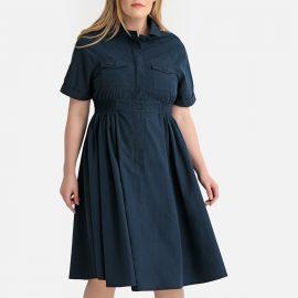 Flared Elasticated Waist Shirt Dress at La Redoute