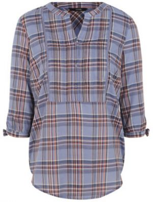 George Check Print Blouse