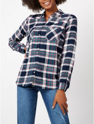 George Check Print Long Sleeve Shirt