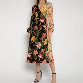 Gini London Multicoloured Floral Midi Wrap Dress New Look at New Look UK