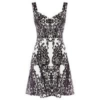 Karen Millen Printed Velvet Dress