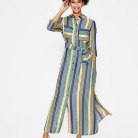 Katrina Maxi Shirt Dress Multi Women Boden