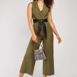 Lapel Front Wrap Jumpsuit at Everything 5 Pounds