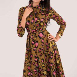 Leopard Print Midi Shirt Dress at Closet London