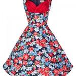 Lindy Bop 'Ophelia' Vintage 1950's Fresh Floral Print Swing Dress
