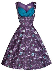 Lindy Bop 'Ophelia' Vintage 50's Moonlit Forest Print Party Dress