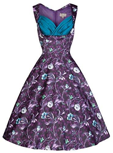 Lindy Bop 'Ophelia' Vintage 50's Moonlit Forest Print Party Dress