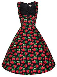 Lindy Bop 'Ophelia' Vintage 50's Scrumptious Berries Print Swing Dress