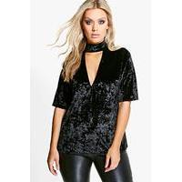 Lola Choker Velvet Top - black - boohoo.com Nursing Clothes
