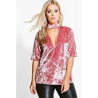 f6202c40d61ea Lola Choker Velvet Top - dusky pink - boohoo.com Nursing Clothes