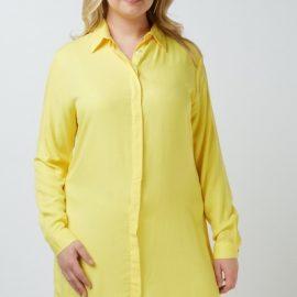 Long Sleeve Plain Shirt Dress at Everything 5 Pounds