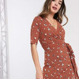 Mama.Licious Mamalicious Maternity wrap dress with nursing function in ditsy floral print