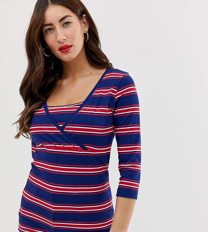 Mama.Licious Mamalicious Nursing stripe top