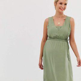 Mama.Licious Mamalicious nursing dress with lace layer