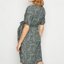 Maternity Blue Floral Wrap Front Mini Dress New Look at New Look UK