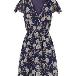 Mela Blue Floral Chiffon Wrap Dress New Look at New Look UK
