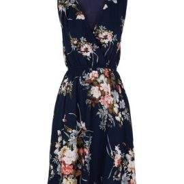 Mela Blue Floral Wrap Mini Dress New Look at New Look UK