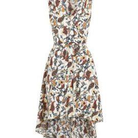 Mela Off White Paisley Dip Hem Wrap Dress New Look at New Look UK
