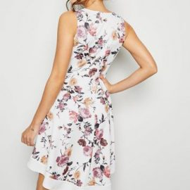 Mela White Floral Wrap Dress New Look at New Look UK