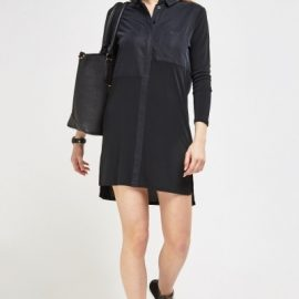 Mesh Contrast Shirt Dress at Everything 5 Pounds