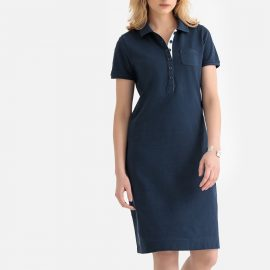 Mid-Length T-Shirt Shift Dress in Cotton Piqué at La Redoute