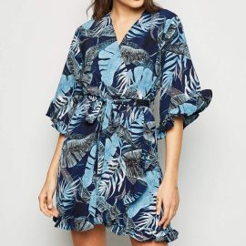 New Look AX Paris Tropical Wrap Dress