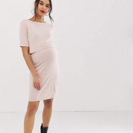 New Look Maternity nursing dress in light pink