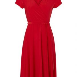 Petite Red Jersey Wrap Dress