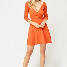 Plunge Wrap Jersey Dress at Everything 5 Pounds
