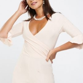 Ruched Side Wrap Playsuit at Everything 5 Pounds