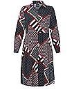 Shirt dress long sleeves Persona by Marina Rinaldi multicoloured size: 24 at Peter Hahn