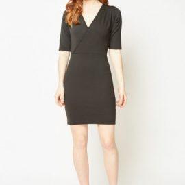 Short Sleeve Mini Wrap Dress at Everything 5 Pounds