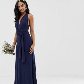 Tfnc TFNC bridesmaid exclusive multiway maxi dress in navy