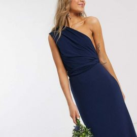 Tfnc TFNC bridesmaid multiway maxi dress in navy