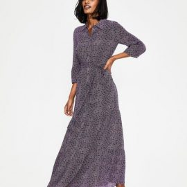 Viola Maxi Shirt Dress Navy Women Boden
