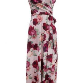 Womens *Chi London Multi Colour Mabel Wrap Dress - Brown