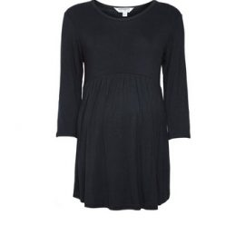 Womens Dp Maternity Black Nursing Smock Tee