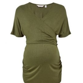 Womens Dp Maternity Khaki Nursing Wrap Top