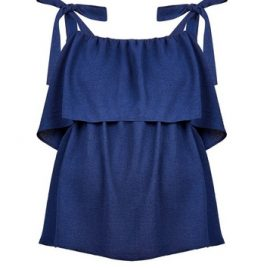 Womens Dp Maternity Navy Nursing Camisole Top - Blue